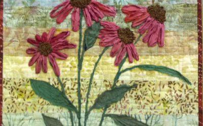 Recycled Sari Silk Ribbon – Art Quilt