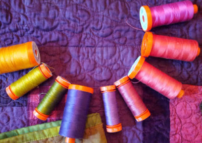 Aurifil 50 weight to Quilt my Beauty